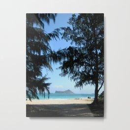 WELCOME TO WAIMANALO BEACH Metal Print