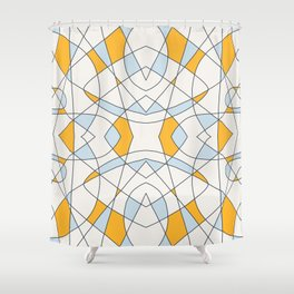 Abstract Retro Colored Church Window Shower Curtain