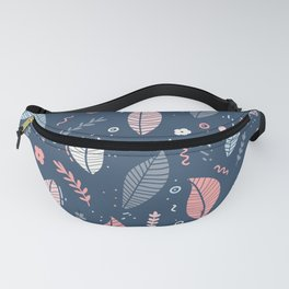 A Frolic Of Flowers And Leaves In A Perfectly Pretty Pastel Pattern Fanny Pack