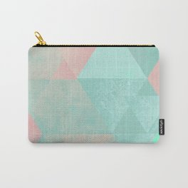 Pink and Mint Geometric Composition  Carry-All Pouch