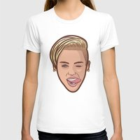 miley T-shirts featuring Miley Cyrus by Michael Walchalk
