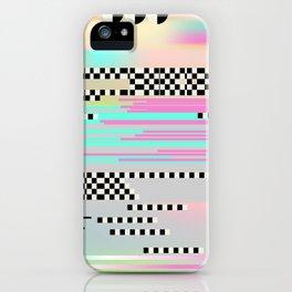 Glitch art effect iPhone Case