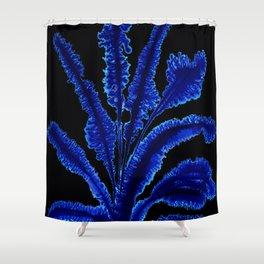 Dark leaves Shower Curtain