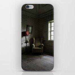 Waiting room, abandoned manor iPhone Skin