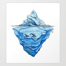 Icebreak Art Print