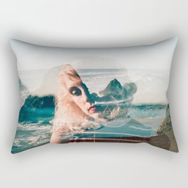 Daydreaming on the Oregon Coast - Double Exposure Film Photograph Rectangular Pillow