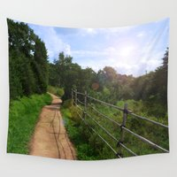 korea Wall Tapestries featuring Spring at Bukhansan, Korea by Clayton Jones