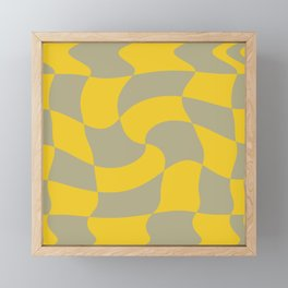 Sage and Turmeric Checkered Swirl (ix 2021) Framed Mini Art Print