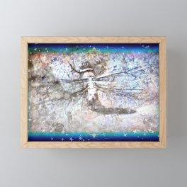 Dragonfly Charts Her Course Among the Stars Framed Mini Art Print