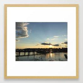 Sunset on Casco Bay Framed Art Print