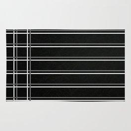 Pinstripes on Scratched Grunge Illustration - Digital Artwork Rug