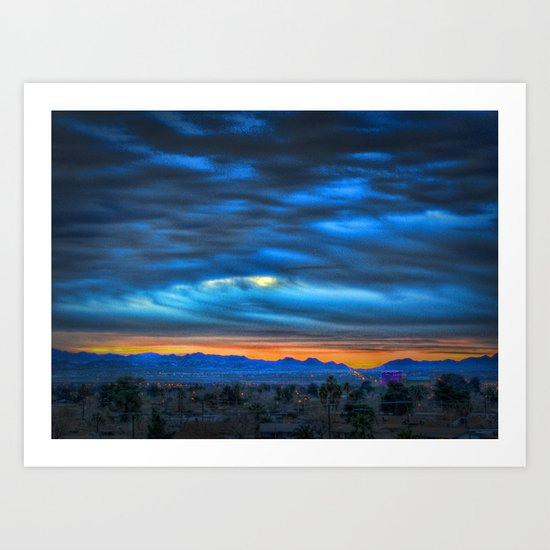 Gogh Sunrise Art Print