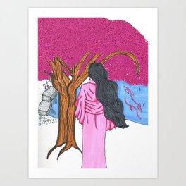 Watch the flowers Fall Art Print