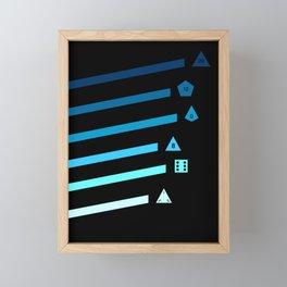 Blue Streaking Dice Framed Mini Art Print