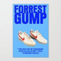 forrest gump Canvas Prints featuring Forrest Gump Movie Poster by FunnyFaceArt