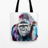 gorilla Tote Bags featuring Gorilla by Slaveika Aladjova