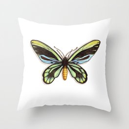 Butterflies: Queen Alexandra's Birdwing Throw Pillow