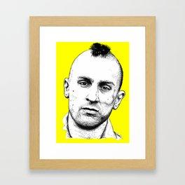 Taxi Driver Travis Bickle Block Series Framed Art Print