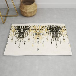 Modern Deco in Black and Cream Rug