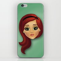 redhead iPhone & iPod Skins featuring Redhead by Lindella