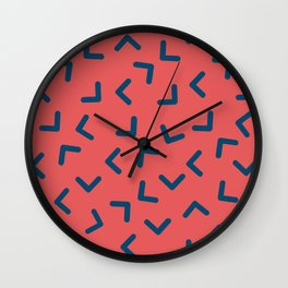Boomerangs / V pattern Wall Clock
