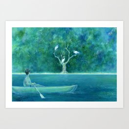 The farther shore Art Print