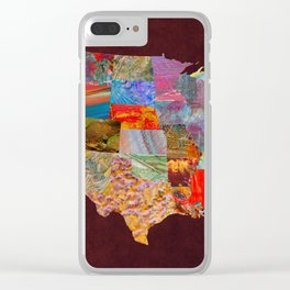 USA Map Clear iPhone Case