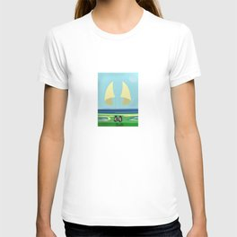 Soaring the Airs with May on a Relaxed Sunday - shoes stories T-shirt