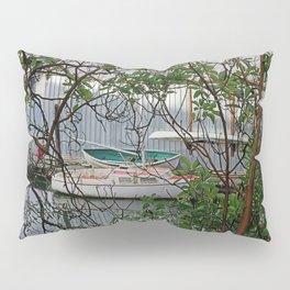 BOATHOUSE THROUGH MADRONA TREES Pillow Sham