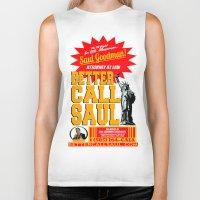 better call saul Biker Tanks featuring BETTER CALL SAUL  |  BREAKING BAD by Silvio Ledbetter