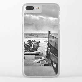 Omaha Beach Landing D Day Clear iPhone Case