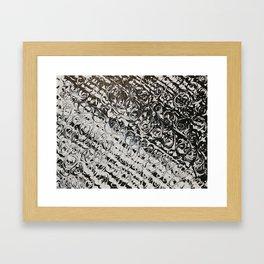 Black & White Swirls Framed Art Print