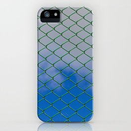 green metal grill iPhone Case