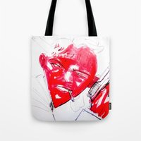 gangster Tote Bags featuring Strawberry gangster by Jan Boss