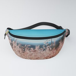 Whispering Grass Turquoise Sky Fanny Pack