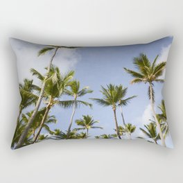 Palmy Blue. Rectangular Pillow