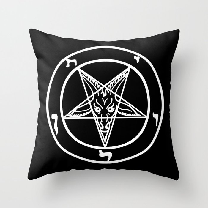 Das Siegel des Baphomet - The Sigil of Baphomet Throw Pillow