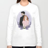 lydia martin Long Sleeve T-shirts featuring Derek Hale/Lydia Martin by vulcains
