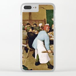 Pieter Bruegel The Elder - Peasant Wedding Clear iPhone Case