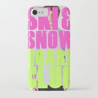 snowboard iPhone & iPod Cases featuring WHS Ski and Snowboard Club by slothcats