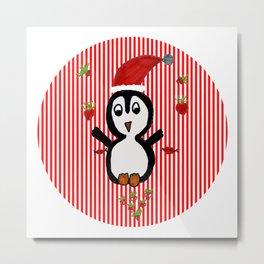 My Penguin | Christmas Spirit Metal Print