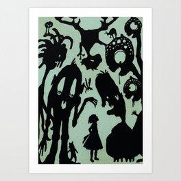 Henny Monsters Art Print