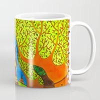 pocahontas Mugs featuring Pocahontas by Sandra Nascimento