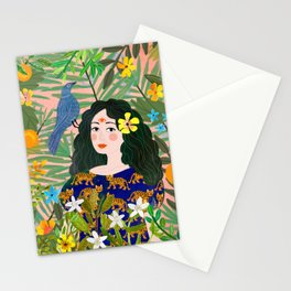 Boho Lady Stationery Cards