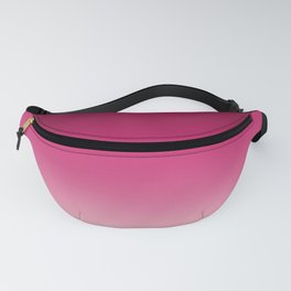 Millennial Pink Peacock Maroon Gradient Pattern Fanny Pack