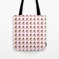 peace Tote Bags featuring peace by Alba Blázquez