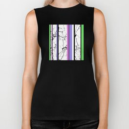 AMPS Tres - Abstract, Marble, Pastel, Stripes Biker Tank