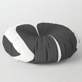 Holding On Black White Floor Pillow