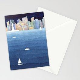 New York City NYC skyline panorama Manhattan Stationery Cards