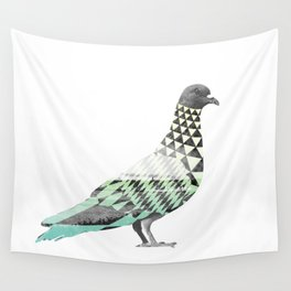 Tessellated Pigeon Wall Tapestry